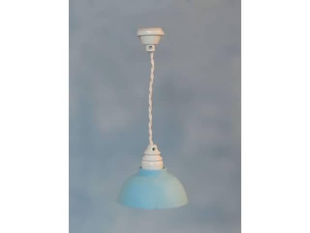 Hanglamp blauwe kap