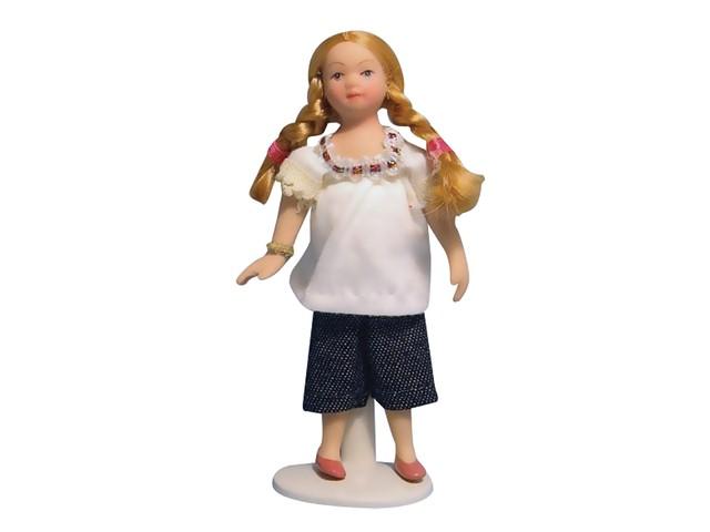 Modern meisje in jeans for Poppenhuis meisje